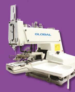 GLOBAL BS 377 - Masina de cusut nasturi mecanica